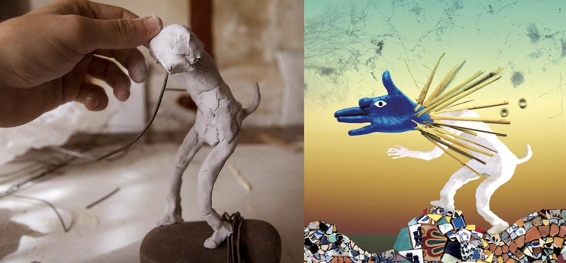 Escultura para ilustración