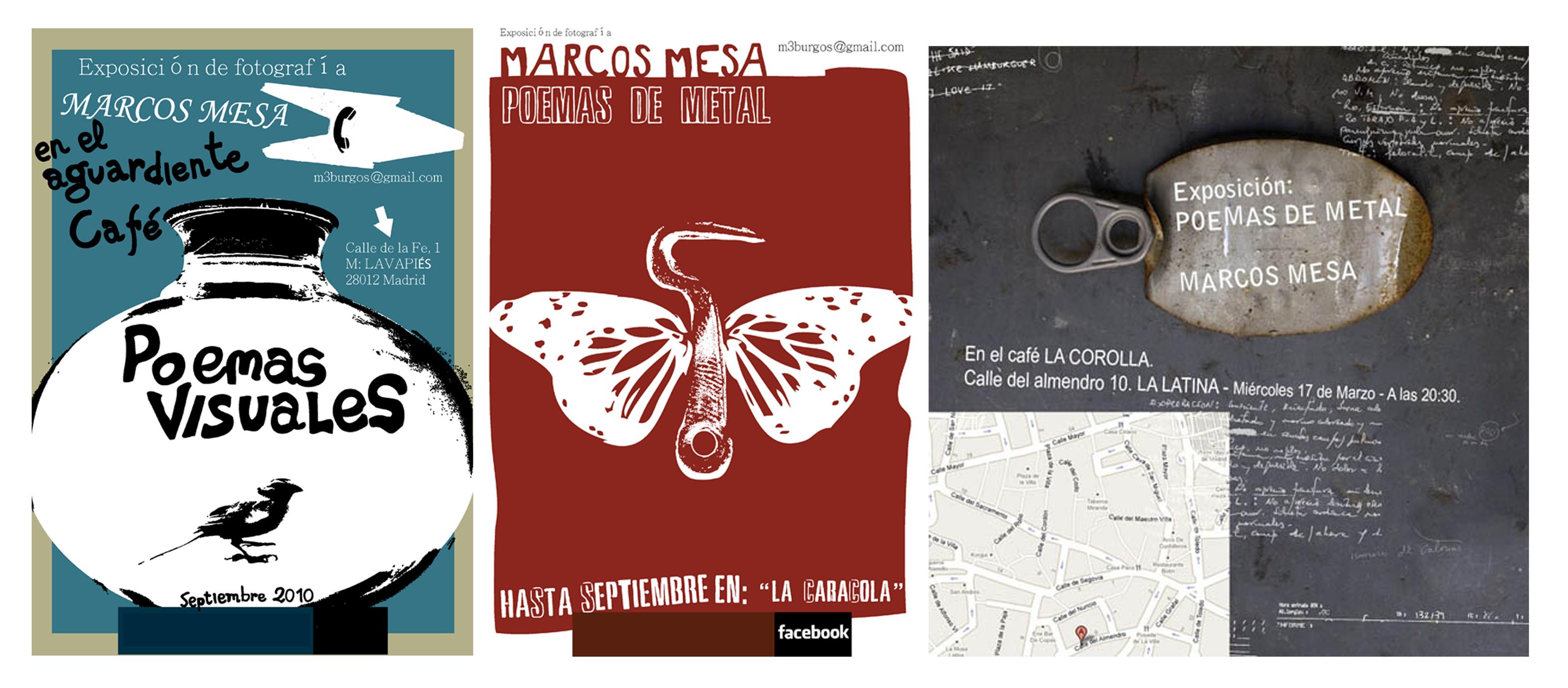 Carteles de las diferentes exposiciones