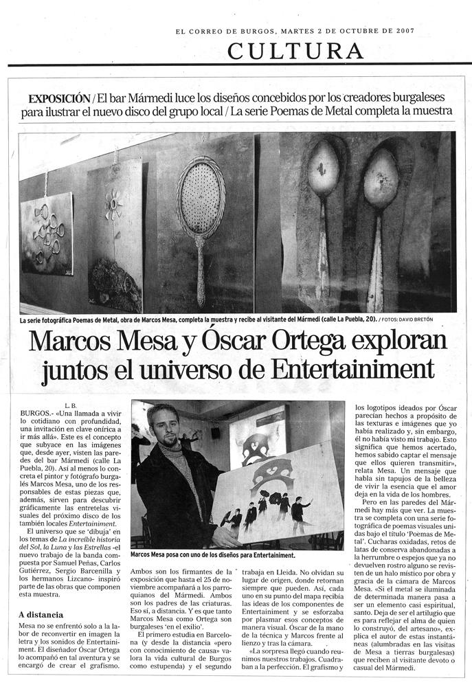 Artículo El Correo de Burgos